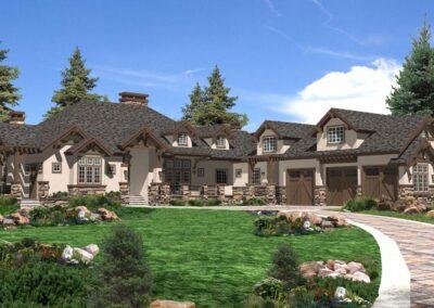 DeMarco Design and Build - Custom Residential Home - Bend Oregon - Concept Exterior Render